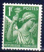 Type IRISde  1938:  1F Vert N° 432** - 1939-44 Iris