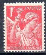 Type IRISde  1938:  1F Rouge N° 433** - 1939-44 Iris