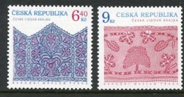CZECH REPUBLIC 2003 Folk Art: Lace MNH / **.  Michel 351-52 - Czech Republic