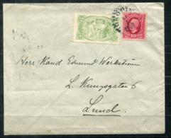 5355 - SCHWEDEN - Brief Mit Vignette Tuberkulose 1908 - Schweden