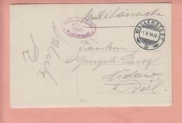 OUDE POSTKAART ZWITSERLAND - SCHWEIZ -     WALLENSTADT - MILITAIR - 1914 - STEMPEL - SG St. Gall