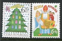 CZECH REPUBLIC 2002 Christmas MNH / **.  Michel 335-36 - Tchéquie