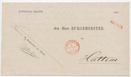 Dienst Drukwerk - Naamstempel Heerde 1869 - Periodo 1852 - 1890 (Guglielmo III)