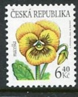 CZECH REPUBLIC 2002 Flower Definitive 6.40 Kc MNH / **.  Michel 330 - Repubblica Ceca
