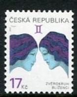 CZECH REPUBLIC 2002 Zodiac Definitive 17 Kc MNH / **.  Michel 329 - Czech Republic