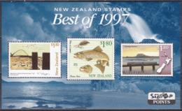 Neuseeland New Zealand 1998 Kunst Arts Gemälde Paintings Tiere Animals Fische Fish Eisenbahn Railway Trains, Bl. 72 ** - Nuevos