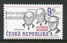 CZECH REPUBLIC 2002  Musical Personalities MNH / **.  Michel 315 - República Checa