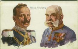 ROYAL FAMILY  - Franz Joseph I Of Austria & Wilhelm II OF GERMANY - 1930s (BG6091) - Familias Reales