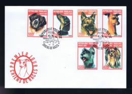 SAINT BERNARD, TECKEL, LÉVRIER ITALIEN, YORSHIRE TERRIER Dogs Chiens De Races Animaux Animals Faune Rep.TOGOLAISE G4473 - Chiens