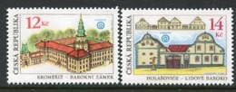 CZECH REPUBLIC 2001 World Heritage Sites  MNH / **.  Michel 303-04 - Repubblica Ceca