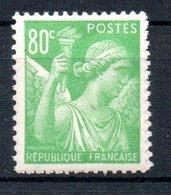 TYPE IRIS 1944 - 80c Vert-jauner - N° 649** - 1939-44 Iris