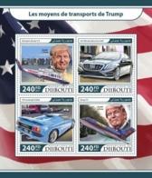 DJIBUTI - 2017 - Trump's Transport - Perf 4v Sheet - M N H - Djibouti (1977-...)