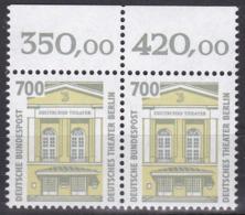 BRD, Sehenswürdigkeiten (XVI), 1993, Waagerechtes Paar  Mit Oberrand Mi.Nr. 1691 ** - Nuovi