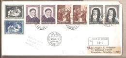 """Vaticano - Busta Viaggiata Primo Giorno D'uso Per Il Canada Con Due Serie Complete """"San Vincenzo De' Paoli""""- 1960 - Lettres & Documents"""