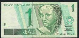 BRAZIL P243Ab 1 REAL 1997 #A6651 Signature 22   XF-AU - Brazil