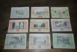 Congo Loterie Coloniale   Koloniale Loterij  1951 1952 9 Verschillende Differents Biljet - Billets De Loterie