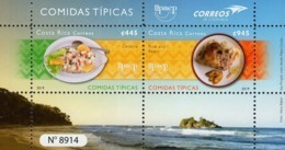 Costa Rica - 2019 - UPAEP - Typical Dishes - Mint Souvenir Sheet - Costa Rica