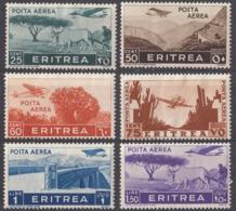 ERITREA, COLONIA ITALIANA - 1936 - Lotto Di 6 Valori Nuovi MH: Posta Aerea Yvert 18/23. - Eritrea