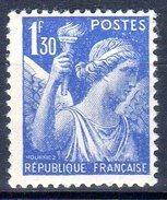 Type IRISde  1938:  1,30F Outremer N° 434** - 1939-44 Iris