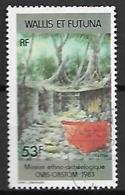 WALLIS  ET  FUTUNA   -    1985 .  Y&T N° 322 Oblitéré.  Mission Ethno-archéologique - Wallis-Et-Futuna