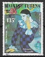 WALLIS  ET  FUTUNA   -   Aéros  -    1981 .  Y&T N° 111 Oblitéré.   Picasso  /  Arlequin Accoudé - Usados
