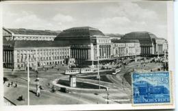 49223 Germany Reich, Maximum 28.7.1941 Leipzig  Reichmessestadt Hauptbahnhof, Architecture - Allemagne