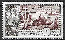 WALLIS  ET  FUTUNA   -   Aéros  -    1954 .  Y&T N° 14 (*) .  Libération  /  Débarquement  /  Chars D'assaut - Luftpost