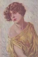 ILLUSTRATEUR ITALIEN - Portrait De Femme - Stampa Milano 16-09-18 Séie 998-1(lot Pat 89/1) - Künstlerkarten