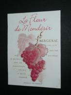 Ancienne étiquette De Vin, Bergerac La Fleur De Mondésir - Bergerac