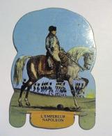 PLAQUETTE EN TOLE PUBLICITAIRE COLLECTION MERE PICON - SOLDATS DE L' EMPIRE. L'EMPEREUR NAPOLEON. N° 1 - Autres