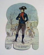 PLAQUETTE EN TOLE PUBLICITAIRE COLLECTION MERE PICON - SOLDATS DE L' EMPIRE. ELEVE BONAPARTE DE BRIENNE. N°25 - Advertising