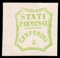 Parma - Governo Provvisorio: 5 C. Verde Giallo - 1859 - Parma