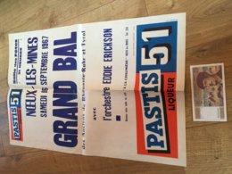 Vieille Affiche NOEUX LES MINES Septembre 1967 PASTIS 51 Liqueur Grand Bal Anciens Rhenanie Ruhr Et Tyrol - Manifesti