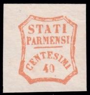Parma - Governo Provvisorio: 40 C. Rosso Bruno - 1859 (B) - Parme