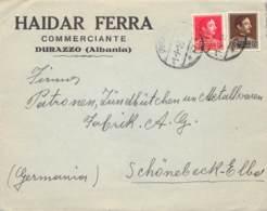 Cover Durazzo (Albania) > Schönebeck / Elbe 1935 - Albanie