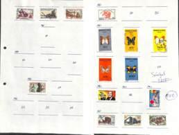 [702692]B/TB//O/Used-Sénégal 1963-64 - Petit Lot Sur Feuille, 2 Pages, Papillons, Architecture - Sénégal (1960-...)
