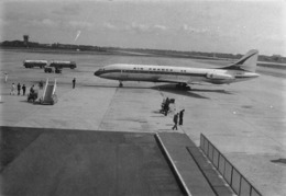"""08793 """"AEROPORTO MILANO LINATE - F-BHMR AIR FRANCE CARAVELLE SUD SE-210 E AUTOCISTERNA TOTAL AIR"""" ANIMATA FOTO ORIG. - Aviazione"""