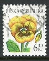 CZECH REPUBLIC 2002 Flower Definitive 6.40 Kc Used.  Michel 330 - Repubblica Ceca