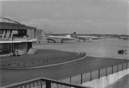 """08794 """"AEROPORTO MILANO LINATE - KLM E LUFTHANSA"""" ANIMATA FOTO ORIG. - Aviazione"""
