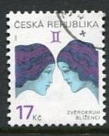 CZECH REPUBLIC 2002 Zodiac Definitive 17 Kc Used .  Michel 329 - Repubblica Ceca
