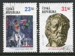 CZECH REPUBLIC 2002 Czech-French Culture Used Singles Ex Block .  Michel 320-21 - Repubblica Ceca