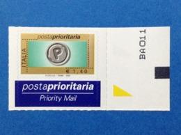 2004 Italia Francobollo Nuovo Stamp New MNH** Posta Prioritaria Prioritario 1,40 In Rotocalco Da Foglio Di 40 - 6. 1946-.. Repubblica