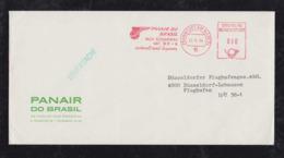Brazil Brasil 1964 Meter Printed Matter PANAIR DO BRASIL Frankfurt To Düsseldorf Germany - Brazilië