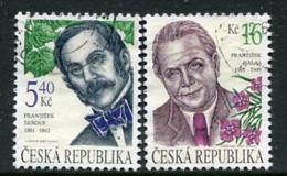 CZECH REPUBLIC 2001 Personalities  Used.  Michel 291-92 - Repubblica Ceca