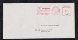Brazil Brasil 1970 Meter Printed Matter VARIG Frankfurt To Düsseldorf Germany - Brazilië