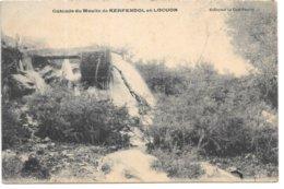 Morbihan...cascade Du Moulin De Kerfendol En Locon...191!.. - Andere Gemeenten