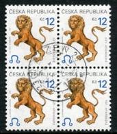 CZECH REPUBLIC 2001 Zodiac Definitive 12 Kc Used Block Of 4  Michel 282 - Repubblica Ceca