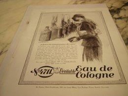 ANCIENNE PUBLICITE ACHETEZ EN CONNAISSANCE  EAU DE COLOGNE 4711 1931 - Parfum & Cosmetica
