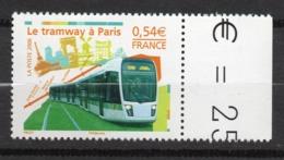 Timbres France N°3995 Neuf ** Tramway à Paris Bord De Feuille - Francia