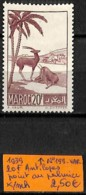 [836675]TB//*/Mh-France (Ex Colonie) Maroc 1939 - N° 199-VAR, 20f Antilopes, Point Au Palmier, Animaux - Marokko (1891-1956)